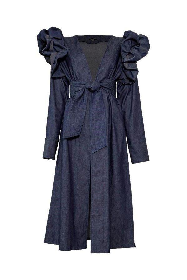 ropa para mujer vestido azul frente padova