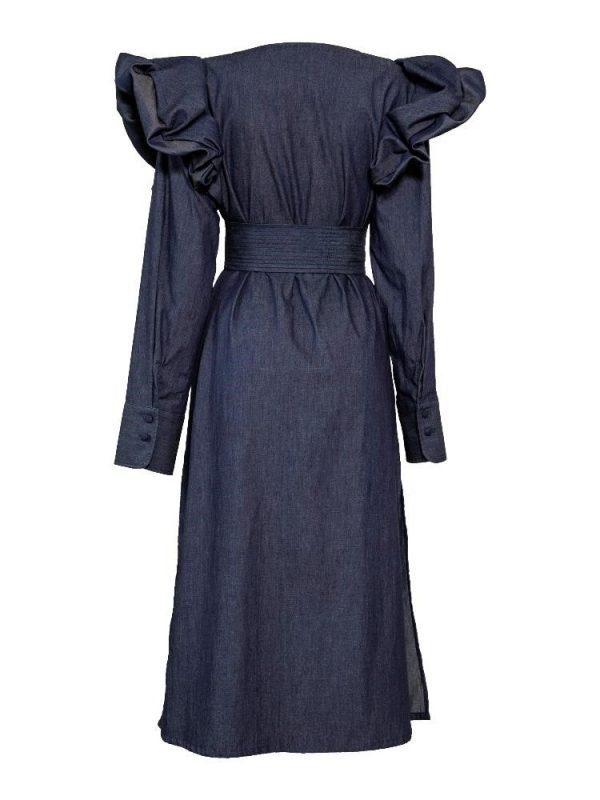 ropa para mujer vestido azul padova espalda
